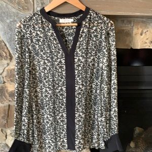 Tory Burch sheer summer vacation top size 8